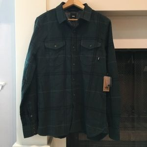 Men's Vans Navy & Green Plaid Shirt